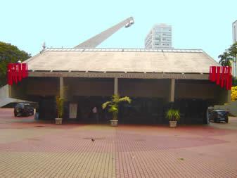 """Fachada do Centro de Convivência Cultural de Campinas """"Carlos Gomes"""""""