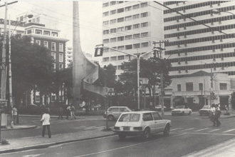 Fotografia antiga do Largo das Andorinhas