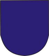 Em campo de blau (azul)
