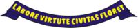 Divisa Labore Virture Civitas Floret de ouro em listão (listel) de blau