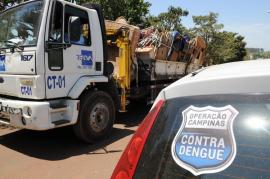 Sanasa recolhe mais de 20 toneladas de entulhos no Dia D contra a Dengue