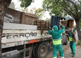 Cata treco retira 4,72 toneladas na região do Campos Elíseos
