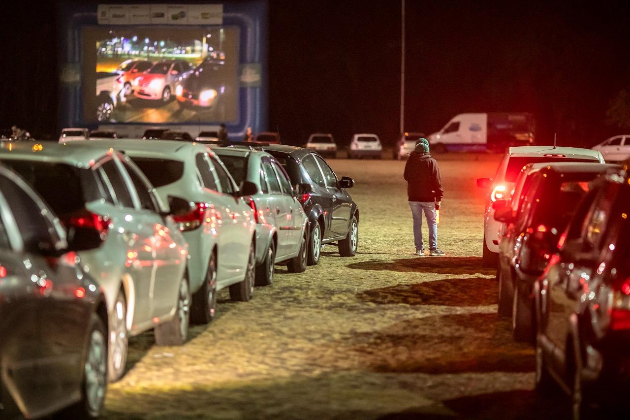 Foto: Cinema drive-in conquistou fãs em Campinas | Crédito: Divulgação